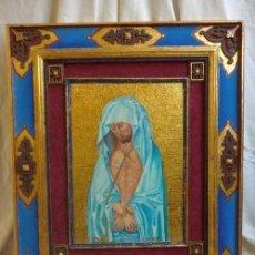 Arte: OLEO SOBRE MADERA, ECCE HOMO,ENMARCACIÓN ARTESANAL, OBRA ÚNICA ( 60 X 50 CM ). Lote 125133383