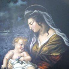 Arte: VIRGEN MARÍA CON NIÑO JESÚS. POR JOLOGA. 81X65. ELIGE MARCO A TU GUSTO.. Lote 125147835