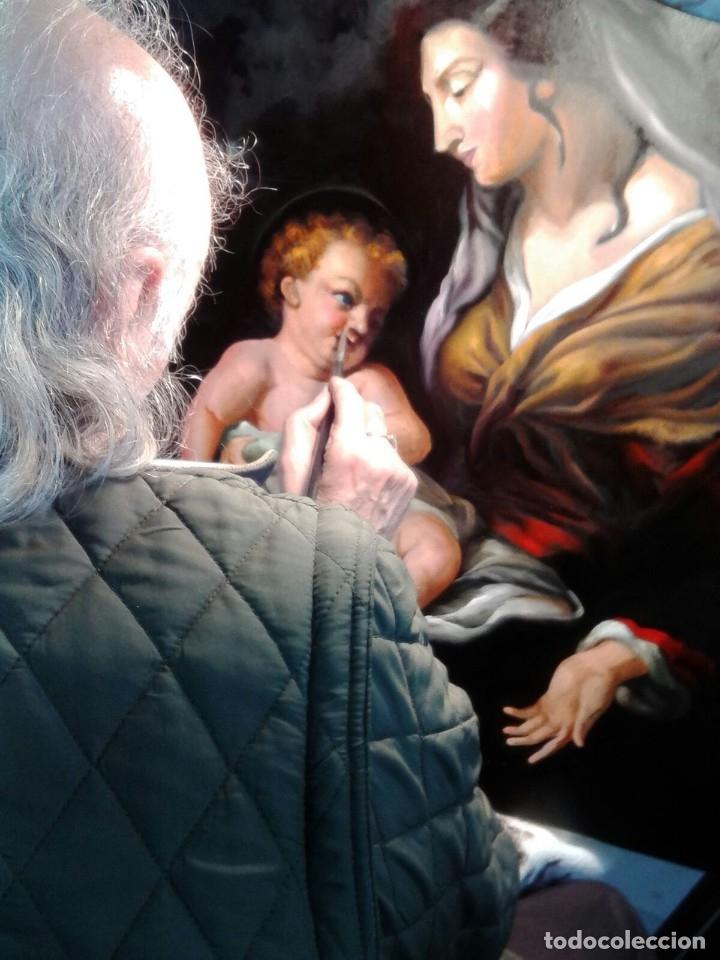 Arte: VIRGEN MARÍA CON NIÑO JESÚS. POR JOLOGA. 81X65. ELIGE MARCO A TU GUSTO. - Foto 2 - 125147835