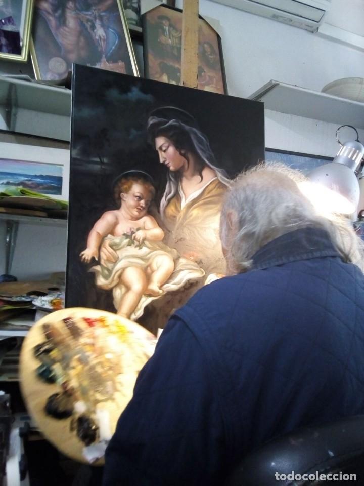 Arte: VIRGEN MARÍA CON NIÑO JESÚS. POR JOLOGA. 81X65. ELIGE MARCO A TU GUSTO. - Foto 3 - 125147835