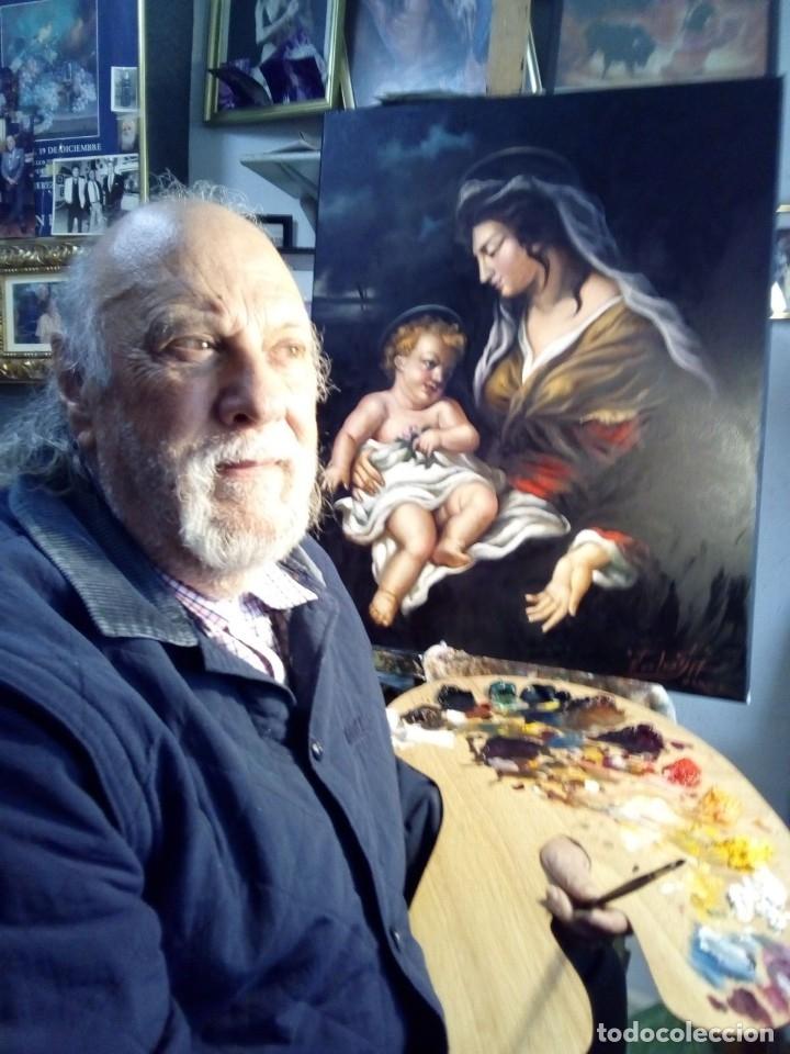 Arte: VIRGEN MARÍA CON NIÑO JESÚS. POR JOLOGA. 81X65. ELIGE MARCO A TU GUSTO. - Foto 5 - 125147835
