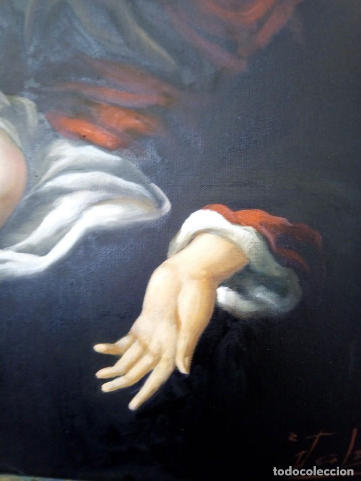Arte: VIRGEN MARÍA CON NIÑO JESÚS. POR JOLOGA. 81X65. ELIGE MARCO A TU GUSTO. - Foto 7 - 125147835