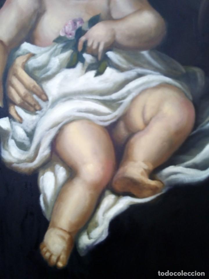 Arte: VIRGEN MARÍA CON NIÑO JESÚS. POR JOLOGA. 81X65. ELIGE MARCO A TU GUSTO. - Foto 8 - 125147835