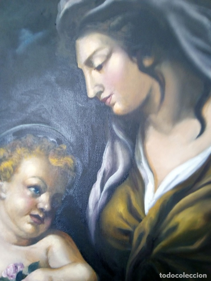 Arte: VIRGEN MARÍA CON NIÑO JESÚS. POR JOLOGA. 81X65. ELIGE MARCO A TU GUSTO. - Foto 9 - 125147835