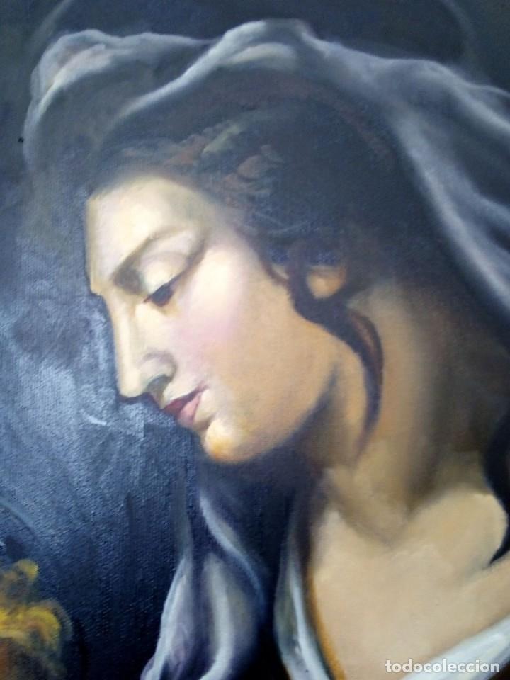 Arte: VIRGEN MARÍA CON NIÑO JESÚS. POR JOLOGA. 81X65. ELIGE MARCO A TU GUSTO. - Foto 10 - 125147835
