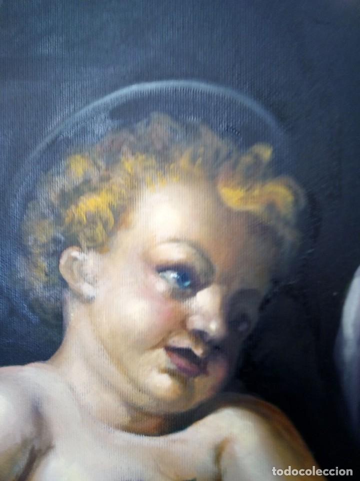 Arte: VIRGEN MARÍA CON NIÑO JESÚS. POR JOLOGA. 81X65. ELIGE MARCO A TU GUSTO. - Foto 12 - 125147835