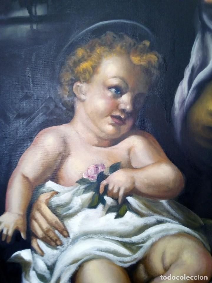 Arte: VIRGEN MARÍA CON NIÑO JESÚS. POR JOLOGA. 81X65. ELIGE MARCO A TU GUSTO. - Foto 13 - 125147835