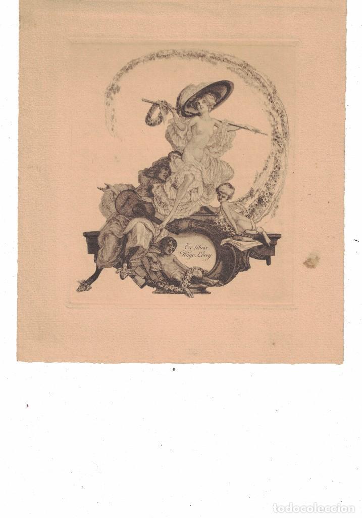 EX-LIBRIS HUGO LOWY BY FRANZ VON BAYROS (Arte - Arte Religioso - Grabados)