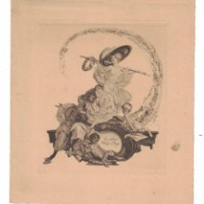 Arte: EX-LIBRIS HUGO LOWY BY FRANZ VON BAYROS. Lote 125151367