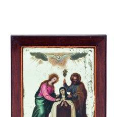 Arte: OLEO SOBRE ESPEJO SIGLO XVII. IMPOSICIÓN DEL COLLAR A SANTA TERESA. Lote 124170059