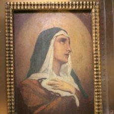 Arte: ANTIGUA PINTURA DE LA VIRGEN MARIA, ENMARCADA, S-XIX.. Lote 125195823