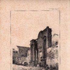 Arte: LITOGRAFIA. I. MONROS Y Cª. PUERTA DE SEVILLA, CORDOBA. MEDIDAS : 32,5 X 22. . Lote 125274831