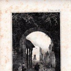 Arte: LITOGRAFIA. I. MONROS Y Cª. PUERTA DE ZAMORA, TALAVERA DE LA REINA, 32,5 X 22. CM.. Lote 125277019