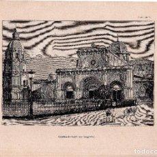 Art: LITOGRAFIA. CATEDRAL DE MANILA, DE FOTOGRAFIA. 32,5 X 22. CM. . Lote 125278139