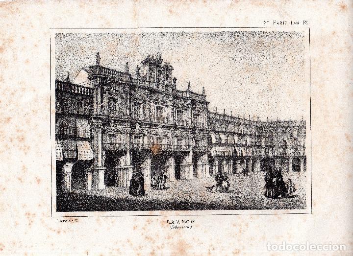 LITOGRAFIA. I. MONROS Y Cª. PLAZA MAYOR, SALAMANCA. 32,5 X 22. CM. (Arte - Arte Religioso - Litografías)