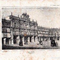 Arte: LITOGRAFIA. I. MONROS Y Cª. PLAZA MAYOR, SALAMANCA. 32,5 X 22. CM.. Lote 125279463