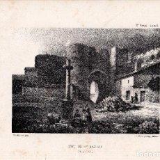 Arte: LITOGRAFIA. I. MONROS Y Cª. ARCO DE SAN BASILIO, CUELLAR. 32,5 X 22. CM.. Lote 125280027
