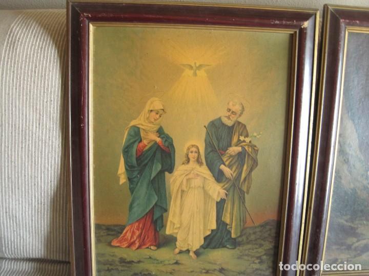 ANTIGUOS-CUADROS-RELIGIOSOS-SOBRE-LAMINA-AÑOS 50 (Arte - Arte Religioso - Pintura Religiosa - Otros)