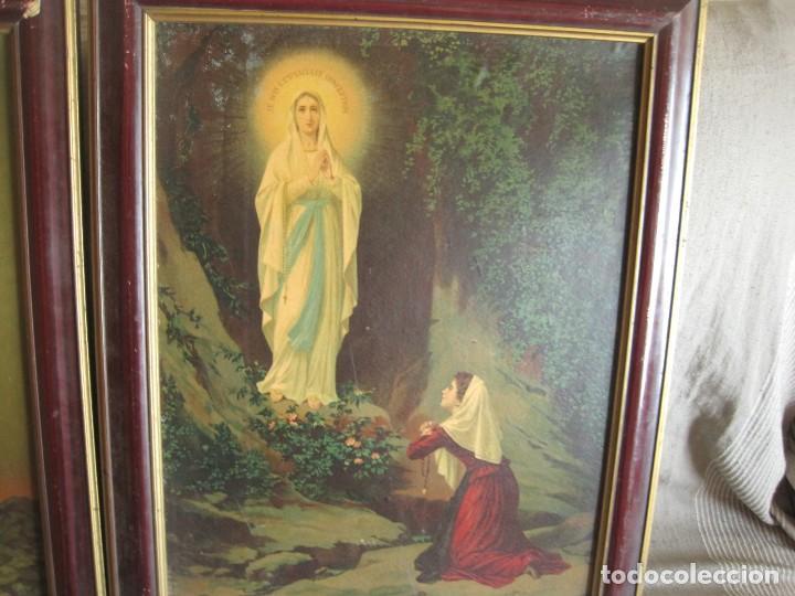 Arte: antiguos-cuadros-religiosos-sobre-lamina-años 50 - Foto 2 - 136333850