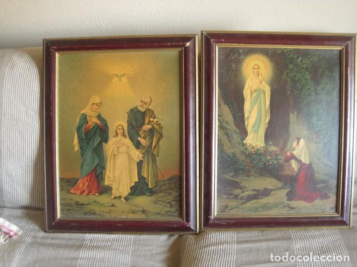Arte: antiguos-cuadros-religiosos-sobre-lamina-años 50 - Foto 3 - 136333850