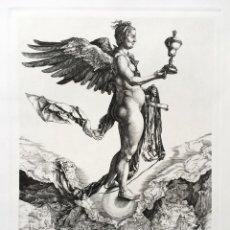 Arte: DURERO, GRABADO AGUAFUERTE ORIGINAL LA GRAN FORTUNA O NÉMESIS 1501-1502. Lote 125386443