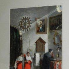 Arte: (BF) OLEO RELIGIOSO FIRMADO J MORALES , BONITO OLEO ESCENA RELIGIOSA , PRINCIPIOS S.XX. Lote 125425531