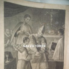 Arte: GRABADO RELIGIOSO ANTIGUO. ORDINIS SACRAMENTUM.VI. SIGLO XVIII. 45 CM X 39´5 CM. . Lote 125426483