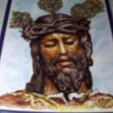 Arte: PINTURA DEL CRISTO DE LOS GITANOS. PINTADO EN AZULEJO DE 32X25 CMS.. MANUEL TIJERA.. Lote 125877231
