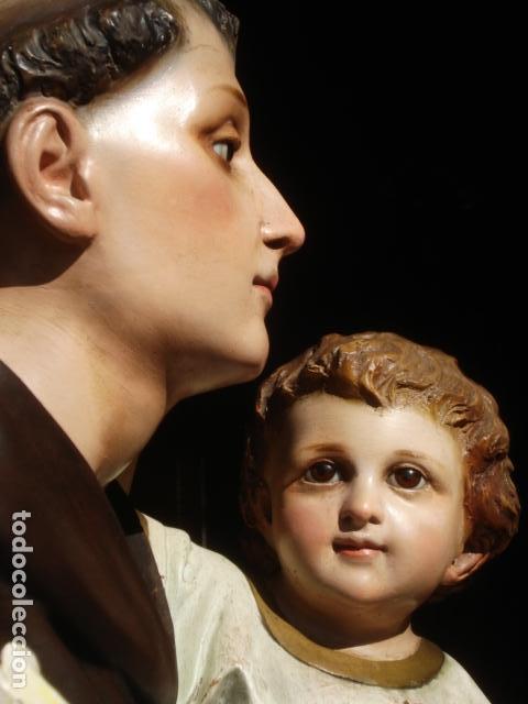 Arte: IMPRESIONANTE SAN ANTONIO EL ARTE CRISTIANO GRAN SAN ANTONIO CON NIÑO GRANDES MEDIDAS - Foto 9 - 125883499
