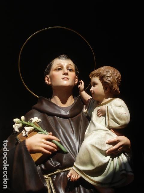 Arte: IMPRESIONANTE SAN ANTONIO EL ARTE CRISTIANO GRAN SAN ANTONIO CON NIÑO GRANDES MEDIDAS - Foto 6 - 125883499