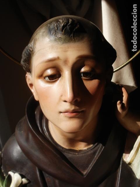 Arte: IMPRESIONANTE SAN ANTONIO EL ARTE CRISTIANO GRAN SAN ANTONIO CON NIÑO GRANDES MEDIDAS - Foto 13 - 125883499
