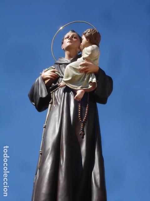Arte: IMPRESIONANTE SAN ANTONIO EL ARTE CRISTIANO GRAN SAN ANTONIO CON NIÑO GRANDES MEDIDAS - Foto 18 - 125883499