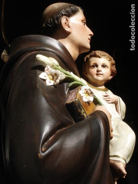 Arte: IMPRESIONANTE SAN ANTONIO EL ARTE CRISTIANO GRAN SAN ANTONIO CON NIÑO GRANDES MEDIDAS - Foto 19 - 125883499