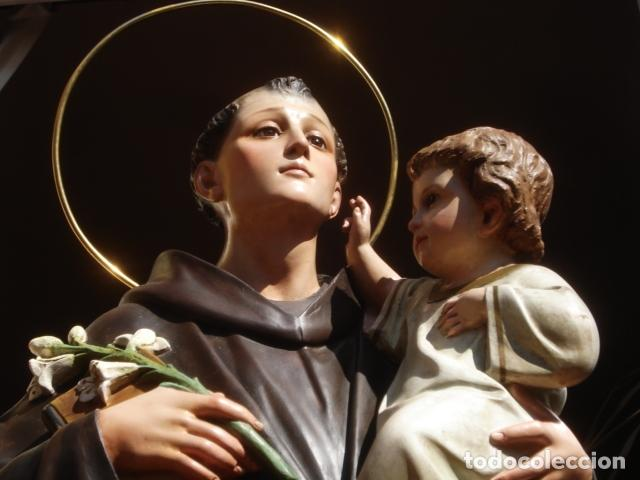 Arte: IMPRESIONANTE SAN ANTONIO EL ARTE CRISTIANO GRAN SAN ANTONIO CON NIÑO GRANDES MEDIDAS - Foto 20 - 125883499