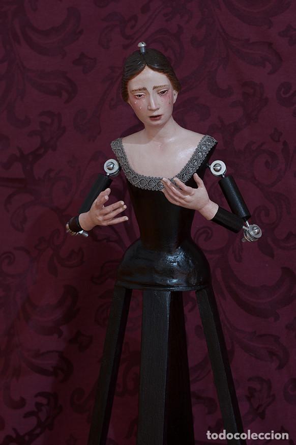 Arte: Virgen Dolorosa de candelero de 55 ctm sin vestir - Foto 2 - 125962011