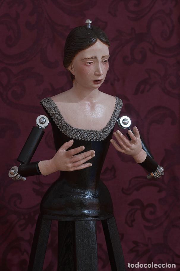 Arte: Virgen Dolorosa de candelero de 55 ctm sin vestir - Foto 4 - 125962011