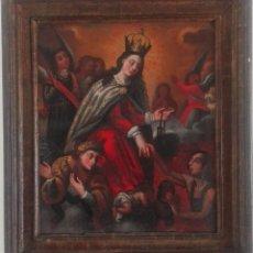 Arte: ESCUELA ESPAÑOLA SIGLO XVIII. VIRGEN DEL CARMEN. OLEO SOBRE TELA. Lote 126016567