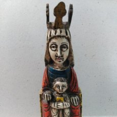 Arte: ESCULTURA O TALLA EN MADERA VIRGEN CON NIÑO. Lote 126095487