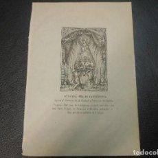 Arte: SIGLO XIX VIRGEN NUESTRA SEÑORA DE LA FUENCISLA SEGOVIA GRABADO LITOGRAFIA RELIGION. Lote 126101223