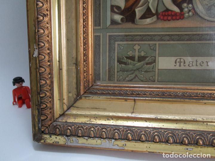 Arte: Antique oliograph 1892 Mater Dolorosa in monte Calvario venerate Eduard Gustav May SOHNE FRANKFURT - Foto 5 - 126207831