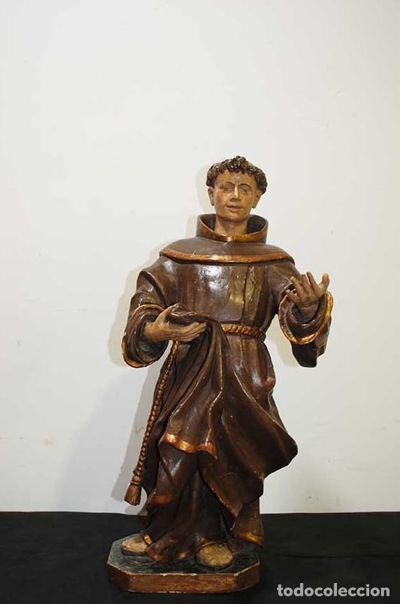 ANTIGUA TALLA DE MADERA , SIGLO XVIII - SAN ANTONIO (Arte - Arte Religioso - Escultura)