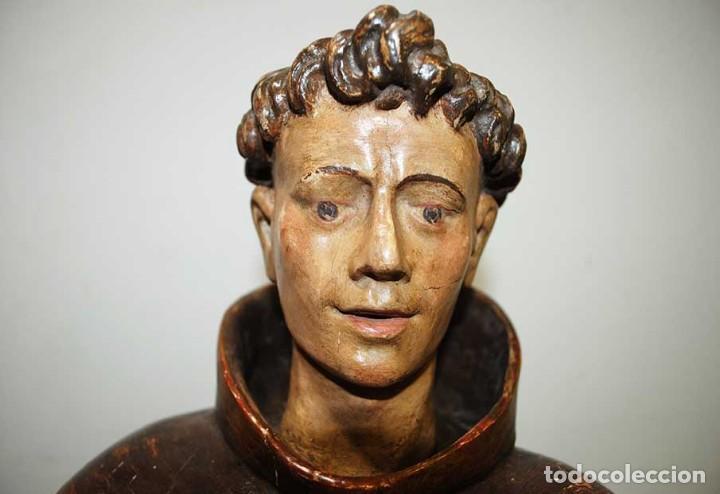 Arte: ANTIGUA TALLA DE MADERA , SIGLO XVIII - SAN ANTONIO - Foto 7 - 126246167