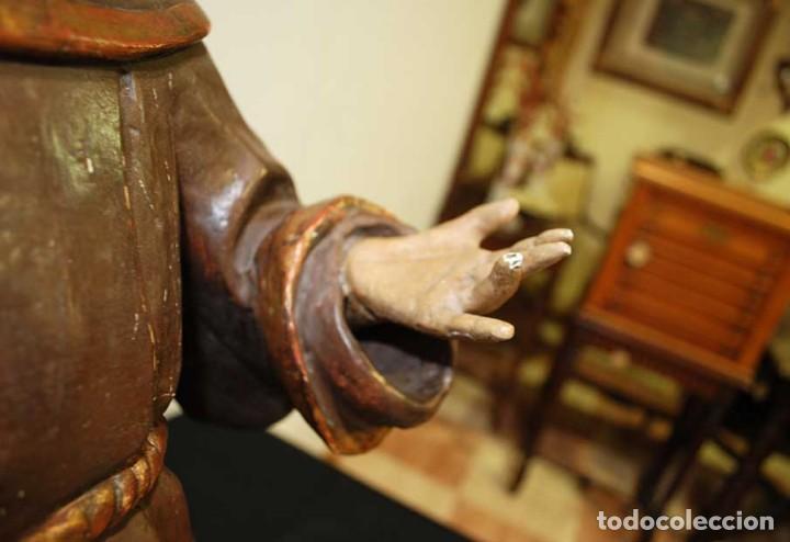 Arte: ANTIGUA TALLA DE MADERA , SIGLO XVIII - SAN ANTONIO - Foto 8 - 126246167