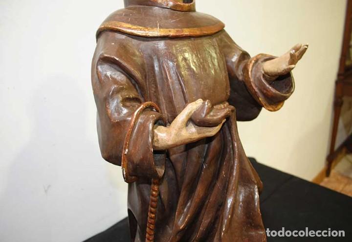 Arte: ANTIGUA TALLA DE MADERA , SIGLO XVIII - SAN ANTONIO - Foto 10 - 126246167