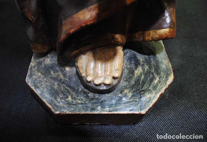 Arte: ANTIGUA TALLA DE MADERA , SIGLO XVIII - SAN ANTONIO - Foto 12 - 126246167