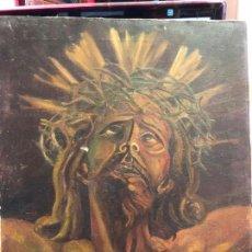 Arte: OLEO SOBRE LIENZO CRISTO DE LIMPIAS FIRMADO Y FECHADO - MEDIDA 57X47 CM - RELIGIOSO - CAPILLA. Lote 126267791