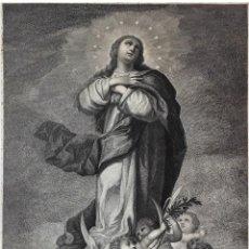 Arte: INMACULADA CONCEPCIÓN. GRABADO POR BART. VÁZQUEZ SOBRE LA OBRA DE MURILLO. 1788.. Lote 126352015