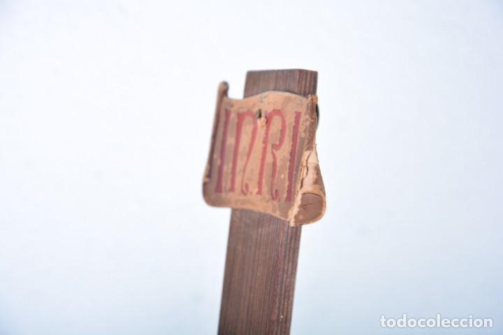 Arte: Crucifijo - Cristo en Cruz - Madera y estuco - Policromado - Marca posible Olot - Foto 17 - 126375503