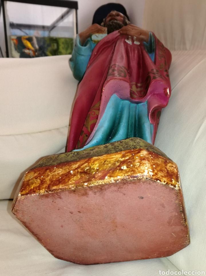 Arte: Figura San Pedro de Olot. 46 cm. - Foto 4 - 126390315