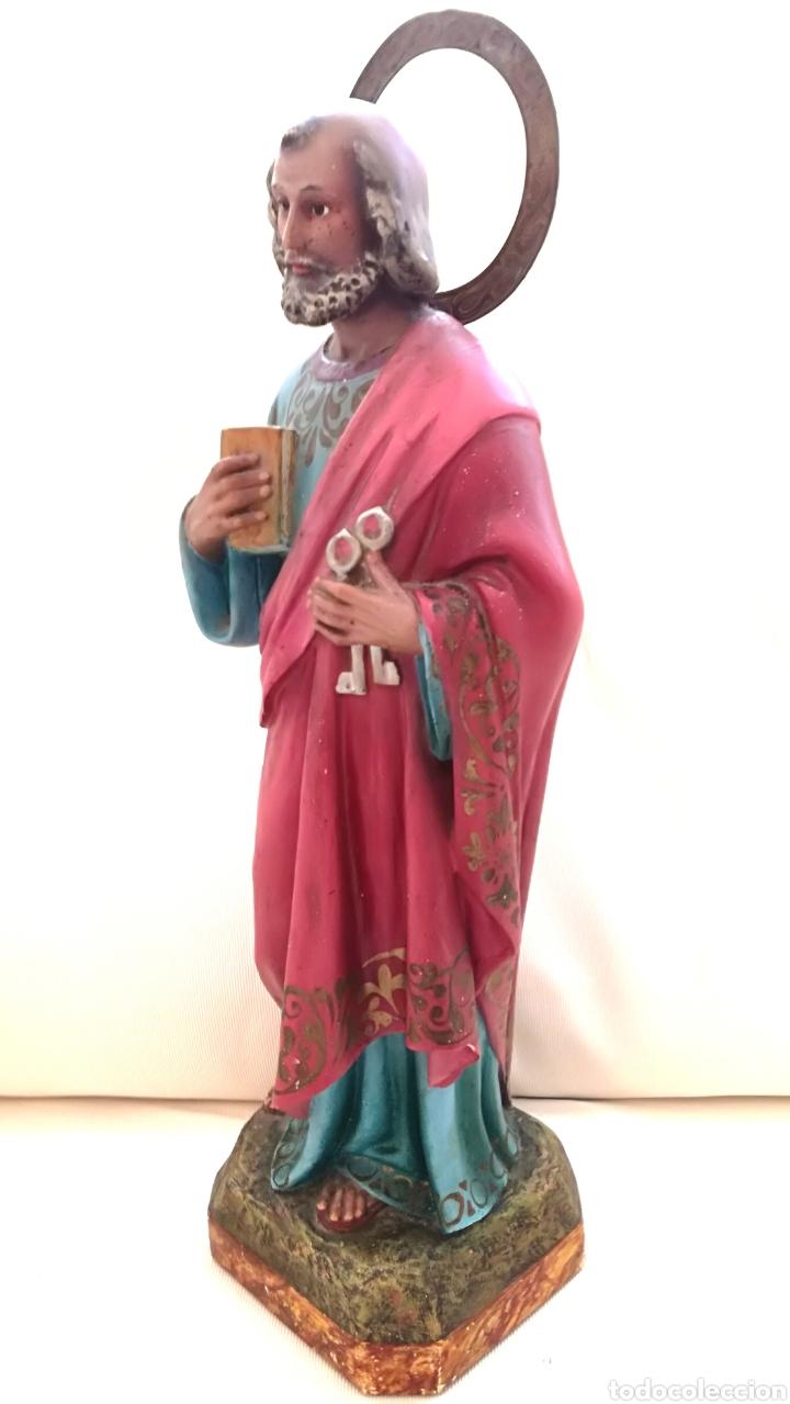 Arte: Figura San Pedro de Olot. 46 cm. - Foto 5 - 126390315